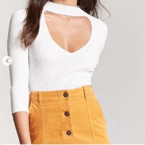 Cutout Ribbed Crop Top BRAND NEW NEVER WORN